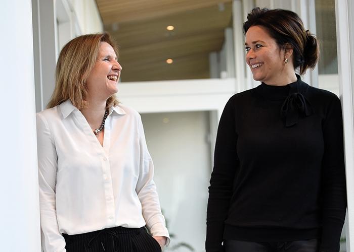 De oprichters van ZorgMies Nederland, Jeannette Kooiman en Margriet Melles