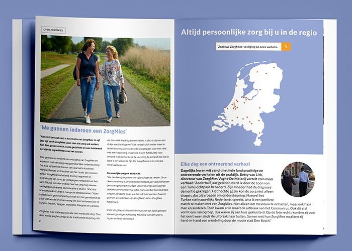 Dag van de Mantelzorger - in het kader van deze dag staat ZorgMies in het magazine van MantelzorgNL de mantelzorger