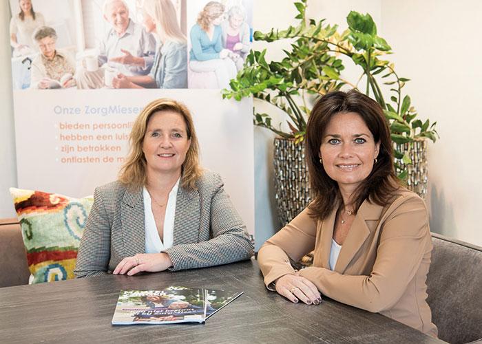 Jeannette Kooiman en Margriet Melles van ZorgMies Nederland